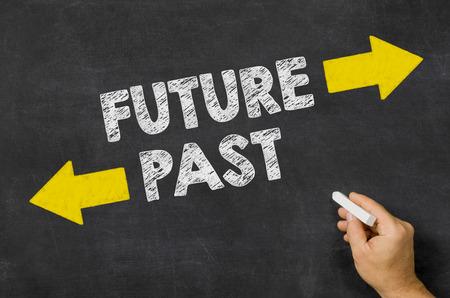 Future or Past written on a blackboard photo