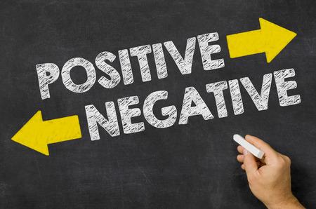 Positive or Negative written on a blackboard photo