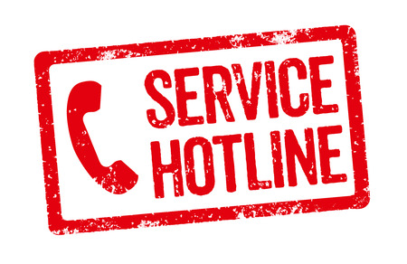 hotline: Red stamp - Service Hotline