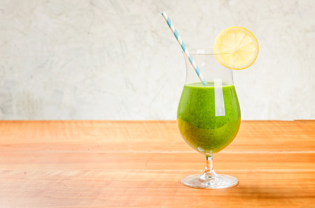 green vegetable: A green vegetable cocktail with copy space Stock Photo