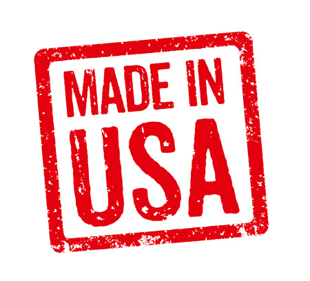 stamps: Red Stamp - Made in USA