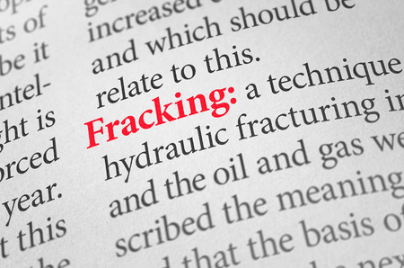 pollution water: Definition of the word Fracking in a dictionary Stock Photo