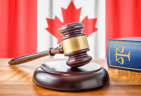 A gavel and a law book - Canada Stock fotó - 41915765