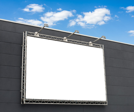 advertising sign: Empty billboard with copy space Stock Photo