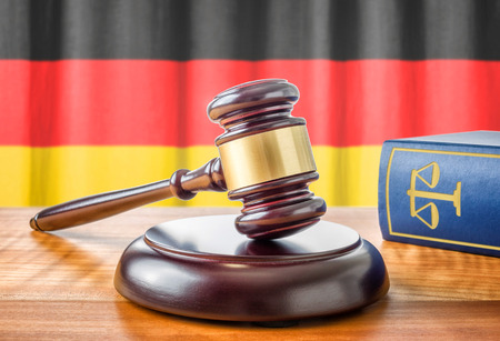 amendment: A gavel and a law book - Germany