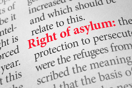 term: Definition of the term right of asylum in a dictionary