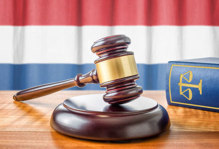holland: A gavel and a law book - Netherlands