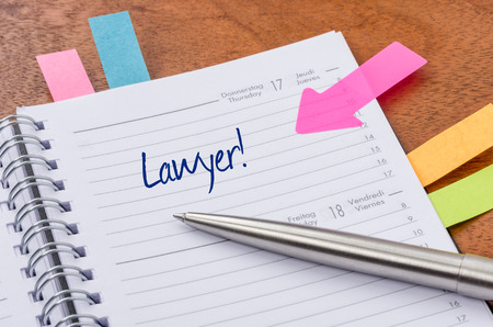 daily planner: Daily planner with the entry Lawyer