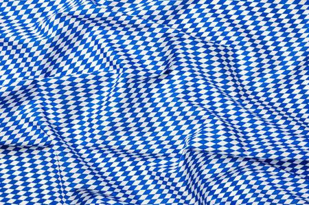 diamond pattern: Fabric with white blue diamond pattern