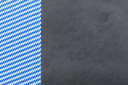 menue: A slate plate with a bavarian diamond pattern