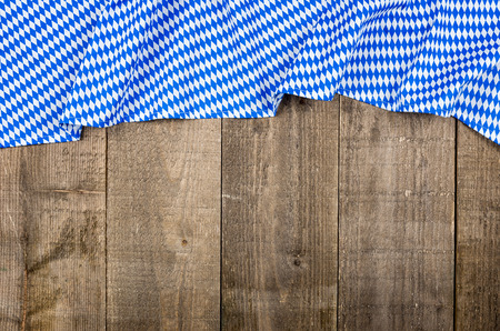 menue: Wooden boards with a bavarian diamond pattern