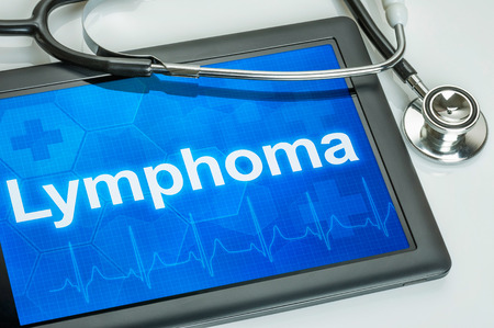 lymphoma: Tablet with the diagnosis Lymphoma on the display
