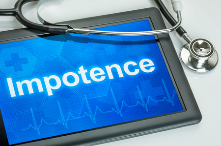 impotence: Tablet with the diagnosis Impotence on the display