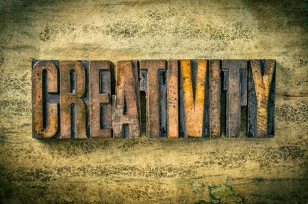 typeset: Antique letterpress wood type printing blocks - Creativity