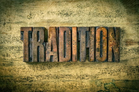 伝統: アンティーク活版木材の種類印刷ブロック - 伝統