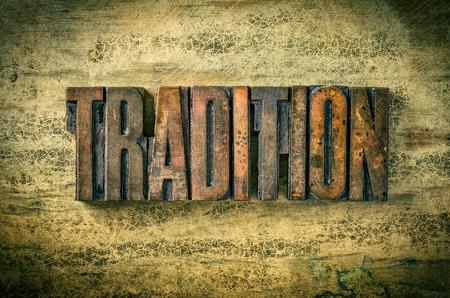 Antique letterpress wood type printing blocks - Tradition