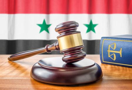 amendment: A gavel and a law book - Syria