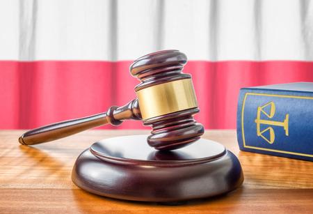 jurisdiction: A gavel and a law book - Poland