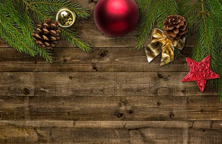 motivos navideños: Decoraciones de Navidad con espacio de copia Foto de archivo