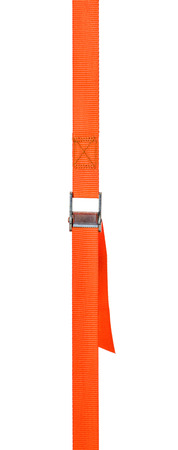 straps: Orange cam buckle strap on a white background