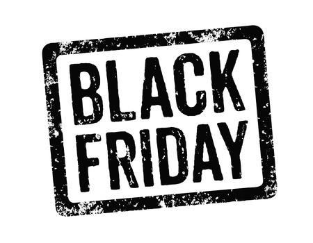 fondo blanco y negro: Negro Sello - Viernes Negro Foto de archivo