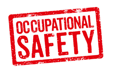 occupational: Red stamp on a white background - Occupational Safety