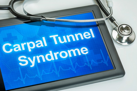 carpal tunnel: Tablet with the diagnosis Carpal Tunnel Syndrome on the display Stock Photo