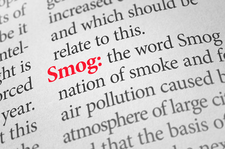 smog: Definition of the word Smog in a dictionary