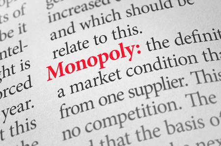 monopolio: Definici�n de la palabra en un diccionario Monopoly