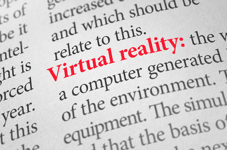 terminology: Definition of the word Virtual reality in a dictionary