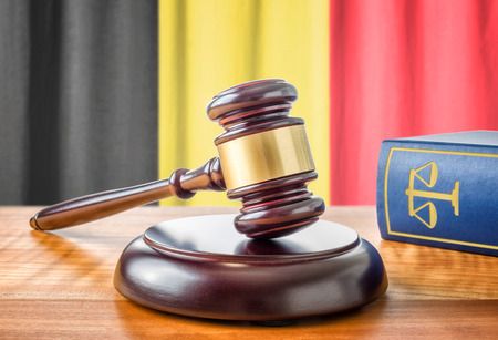 jurisdiction: A gavel and a law book - Belgium