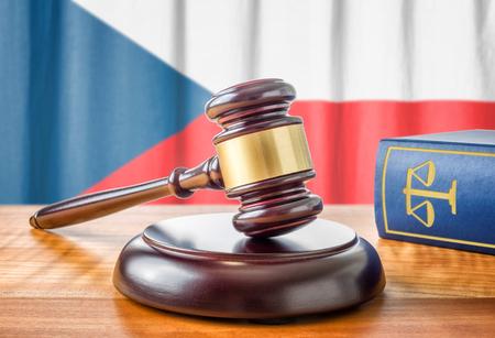 ordenanza: Un martillo y un libro de leyes - Rep�blica Checa