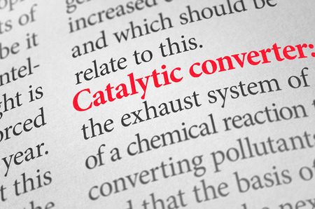 catalytic: Definition of the word Catalytic converter in a dictionary