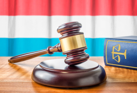 amendment: A gavel and a law book - Luxembourg