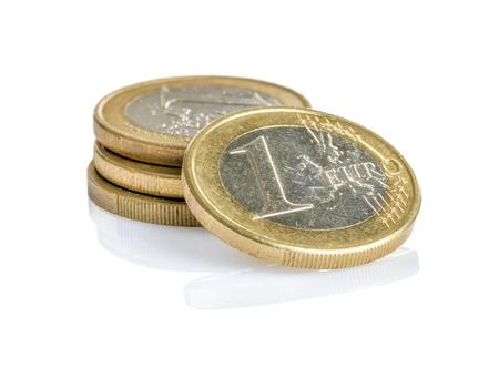 euro coins: Euro coins on a white background