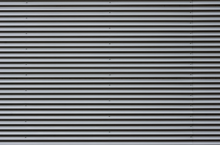 corrugated iron: Corrugated sheet metal facade
