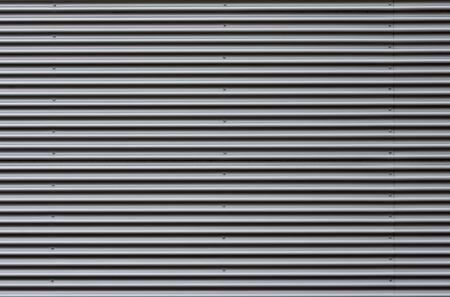 Corrugated sheet metal facade