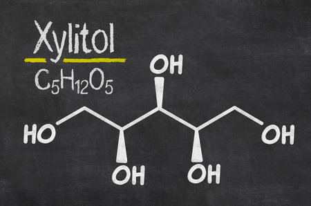 chemical formula: Blackboard with the chemical formula of Xylitol
