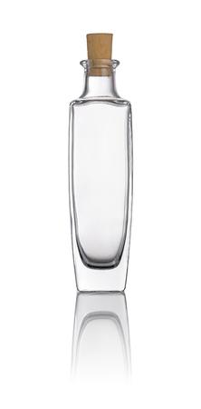 foursquare: Empty oil bottle on a white background Stock Photo