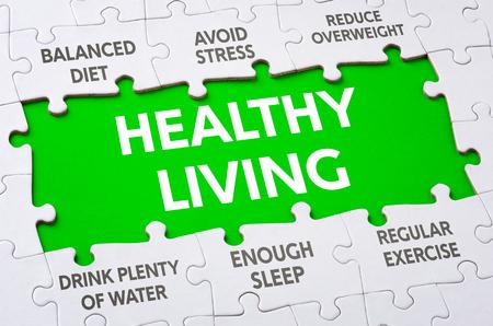Text auf der Puzzleteile - Gesundes Leben