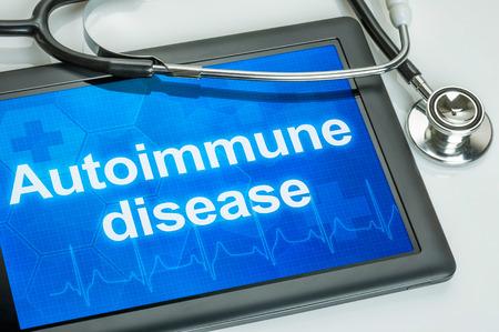 autoimmune: Tablet with the diagnosis Autoimmune disease on the display