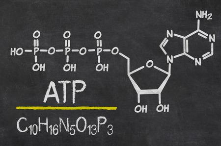 Tafel mit der chemischen Formel von ATP Standard-Bild - 59198318