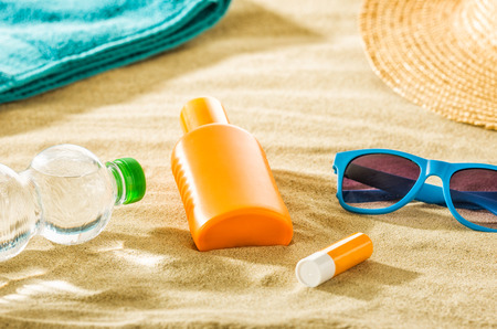 Various beach accessories