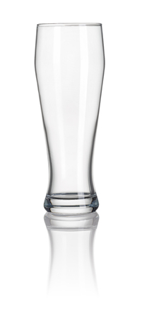 Wheat beer glass on a white background