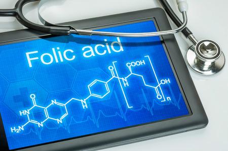 chemical formula: Tablet with the chemical formula of Folic Acid