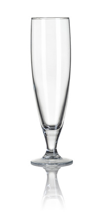 pilsner glass: Beer glass on a white background
