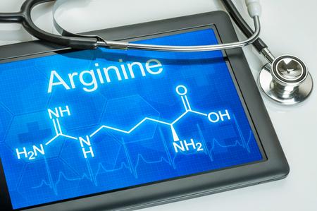 chemical formula: Tablet with the chemical formula of Arginine