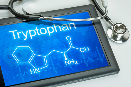 chemical formula: Tablet with the chemical formula of Tryptophan
