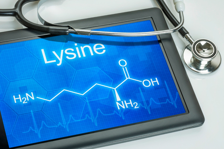 lysine: Tablet with the chemical formula of Lysine