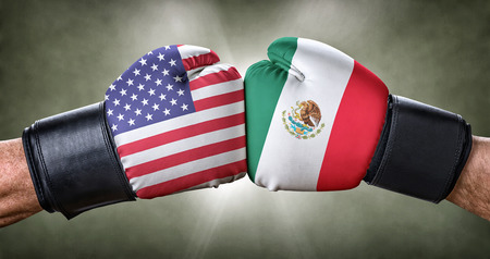 adversary: A boxing match between the USA and Mexico